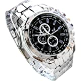 Corgy Men's Fashion Stainless Steel Belt Sport Business Quartz Watch Wristwatches