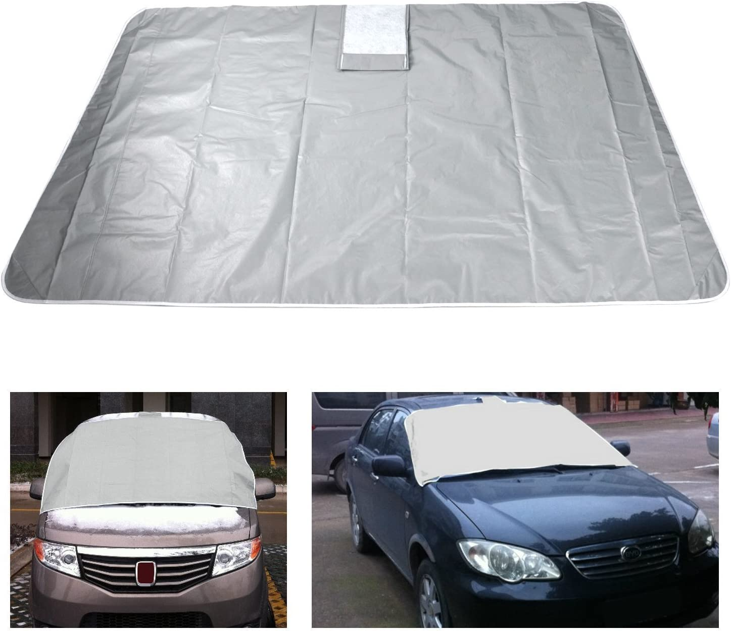 OUYAWEI Magnetic Windscreen Cover Car Van Frost Snow Ice Sun Dust View Protector Shade