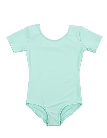 870e8af81197 Amazon.com  Leveret Girls Leotard Basic Short Sleeve Ballet Dance ...