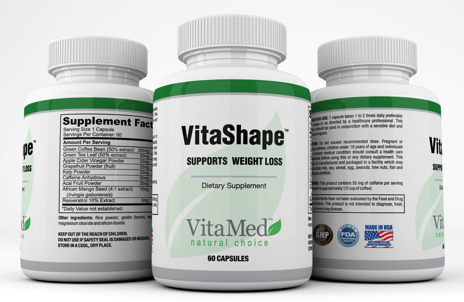 VitaMed VitaShapeTM - an Incredible Blend of Natural Ingredients for Weight Loss Support - 60 Capsules