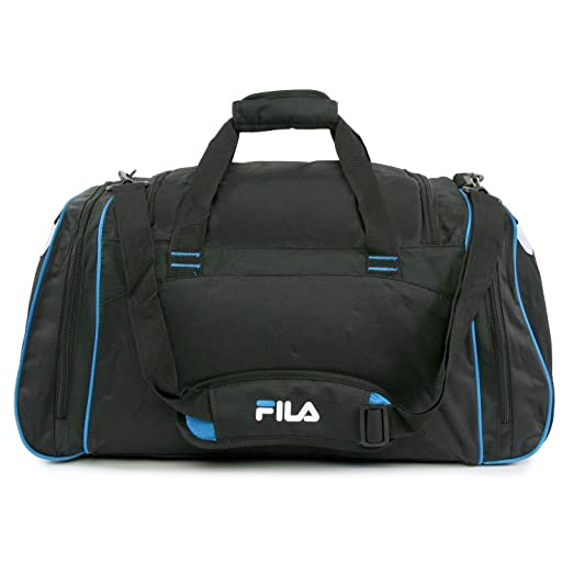 83800a5f020 Amazon.com   Fila Acer Large Sport Duffel Bag, Black Blue One Size   Travel  Duffels
