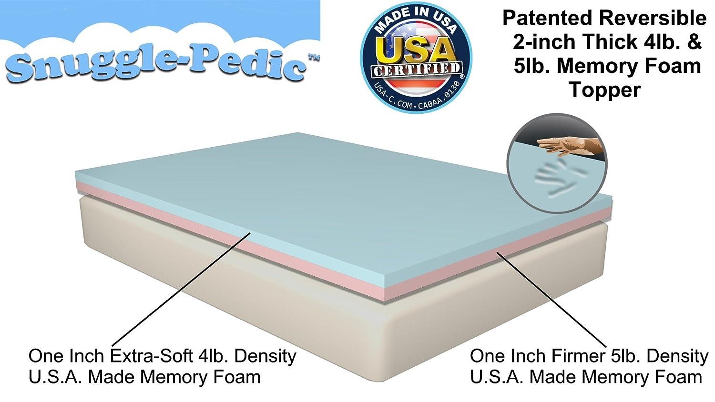 combinación viscoelástico colchón de espuma con efecto memoria Topper - 100% fabricadas en Estados Unidos certificado - 90 días garantía de reembolso y ...