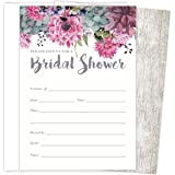 Amazon hallmark bridal shower invitations 16 set kitchen koko paper co bridal shower invitations set of 25 cards and envelopes fill in filmwisefo