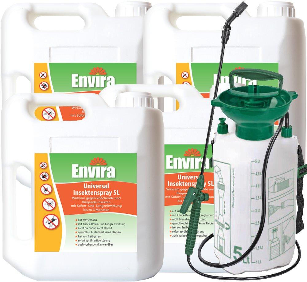 ENVIRA Schutz vor Insekten 4x5Ltr + 5Ltr Sprüher