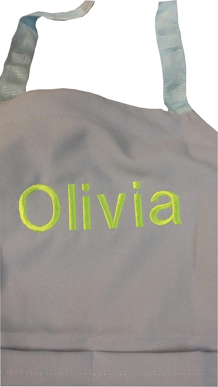 Delantal de chefskin para niños con bordado personalizado, tela real, el mejor regalo para cada nombre, elige el color de y marca como color de escritura, tamaño y en el mensaje en el momento de la co