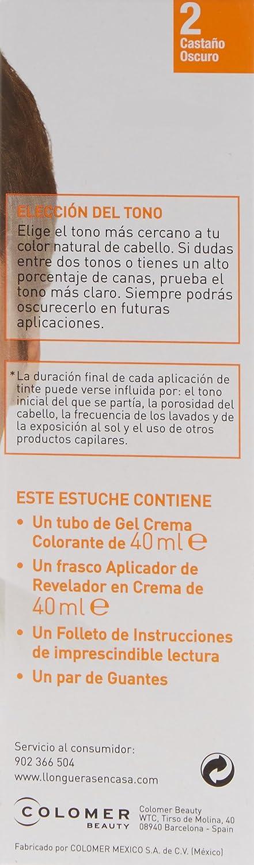 LLONGUERAS Men tinte para hombre Castaño Oscuro caja 1 ud