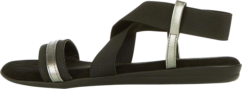 Floopi Womens Summer Flat Sandals Open Toe Elastic Ankle Strap Gladiator Sandal