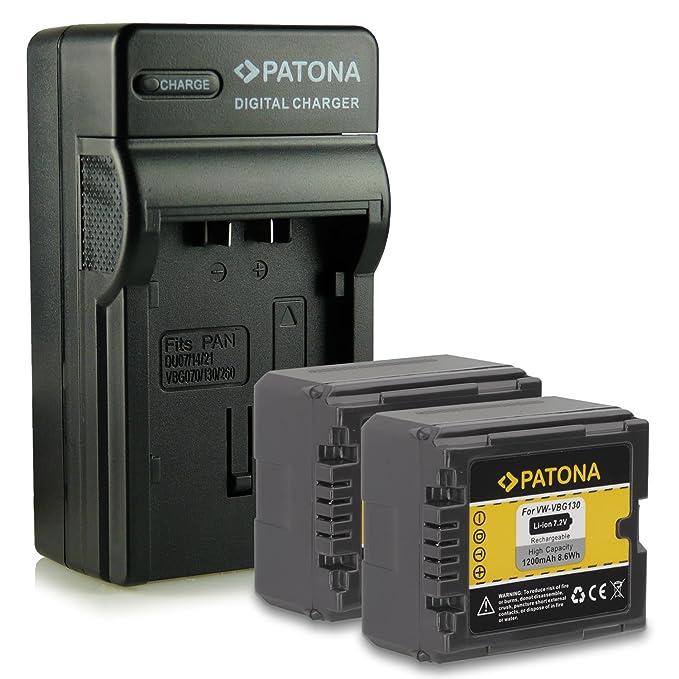 CARGADOR para Panasonic hdc-tm-300 sdr-h-20 sdr-h-21 sdr-h-40 Batería