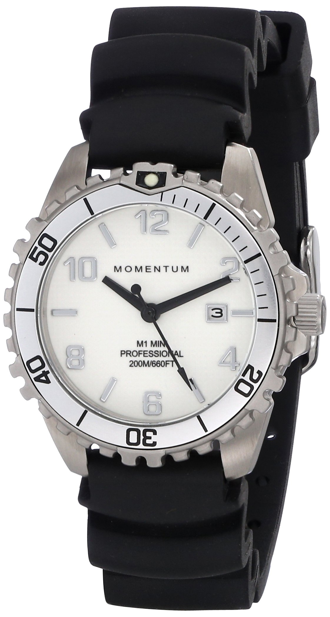 Momentum Women's 1M-DV07WS1B Mini Analog Display Quartz Black Watch