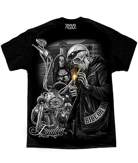 Men S David Gonzales Art Dga Freedom Prison Tower Ride Or Die Motorcycle T Shirt