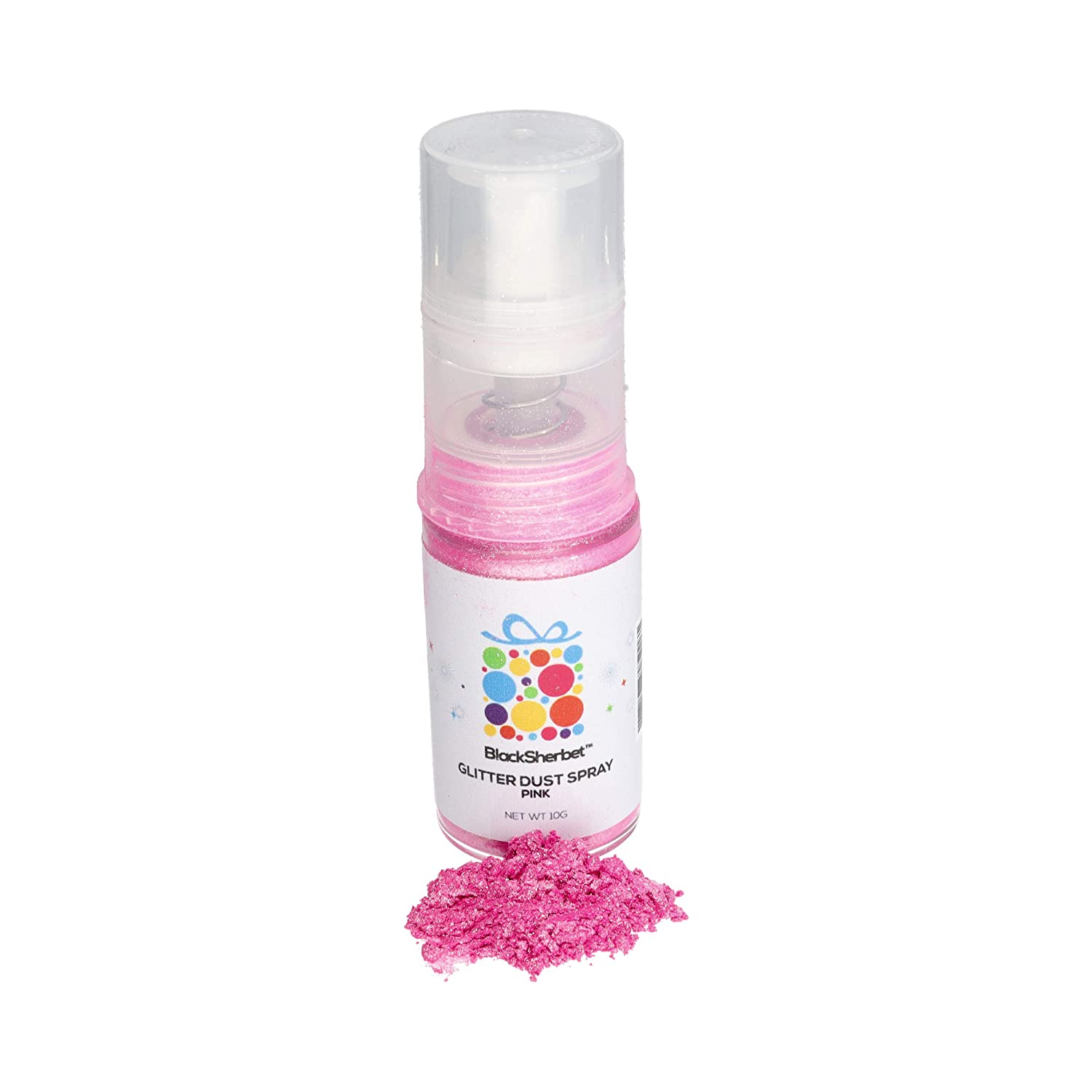 Edible Glitter Dust Spray, (10g) | 100% Edible | Food Grade | Cakes, Cupcakes, Decorating, Cake Pops, Cookies, Drinks, Gourmet Desserts, Chocolate. (Pink)