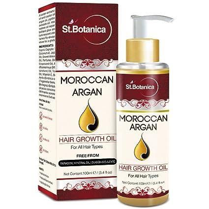 Botanica el crecimiento del cabello Aceite de Argán marroquí (con argán, jojoba