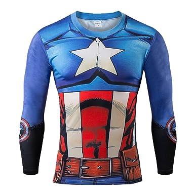 AmonKui 3 d T Shirt Men Super Hero T Shirt Captain America Civil War Tee 3D