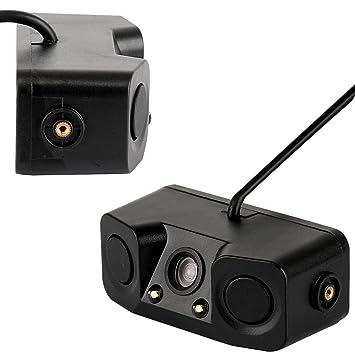 LanLan Detector de radar reversible de respaldo de sensor de aparcamiento impermeable de 3 en 1 con cámara de 170 ° de visión trasera: Amazon.es: ...
