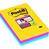 """Post-it 101 x 152 mm """"Rio color collection"""" Super Sticky Lined Notes (Pack of 3)"""
