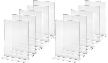 Sigel TA220 Mesa de Pie Recta, para A4, 10 Piezas, Acrílico Cristalino - Otros Tamaños: Amazon.es: Oficina y papelería