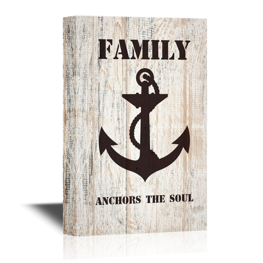Amazoncom Wall26 Canvas Wall Art Family Anchors The Soul
