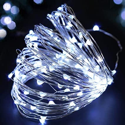amazon com bright zeal 33 ft starry led string lights battery