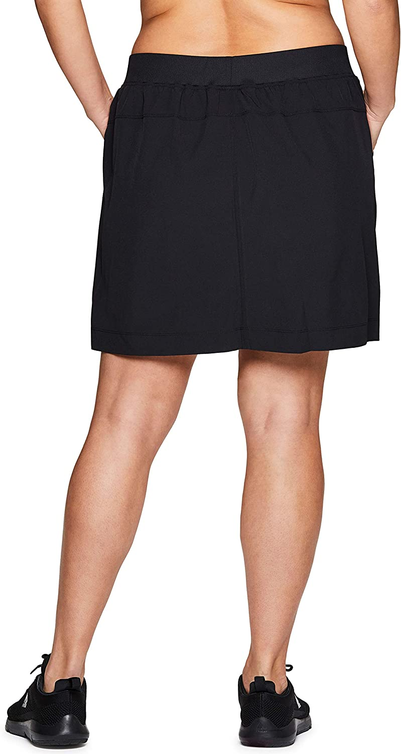 RBX Active Women's Plus Size Stretch Woven Athletic Skort with Attached Bike Short and Pockets at  Women's Clothing store