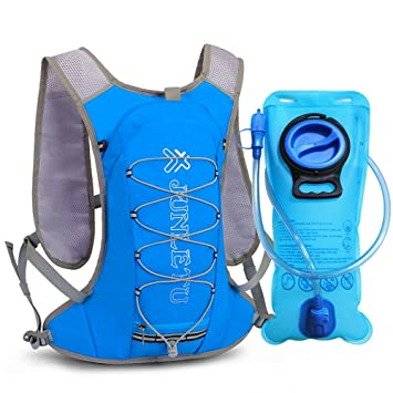 XBoze Mochila Hidratacion, Mochila Trail Running con 2L Agua Vejiga Ultralight and Beathable Bolsa de