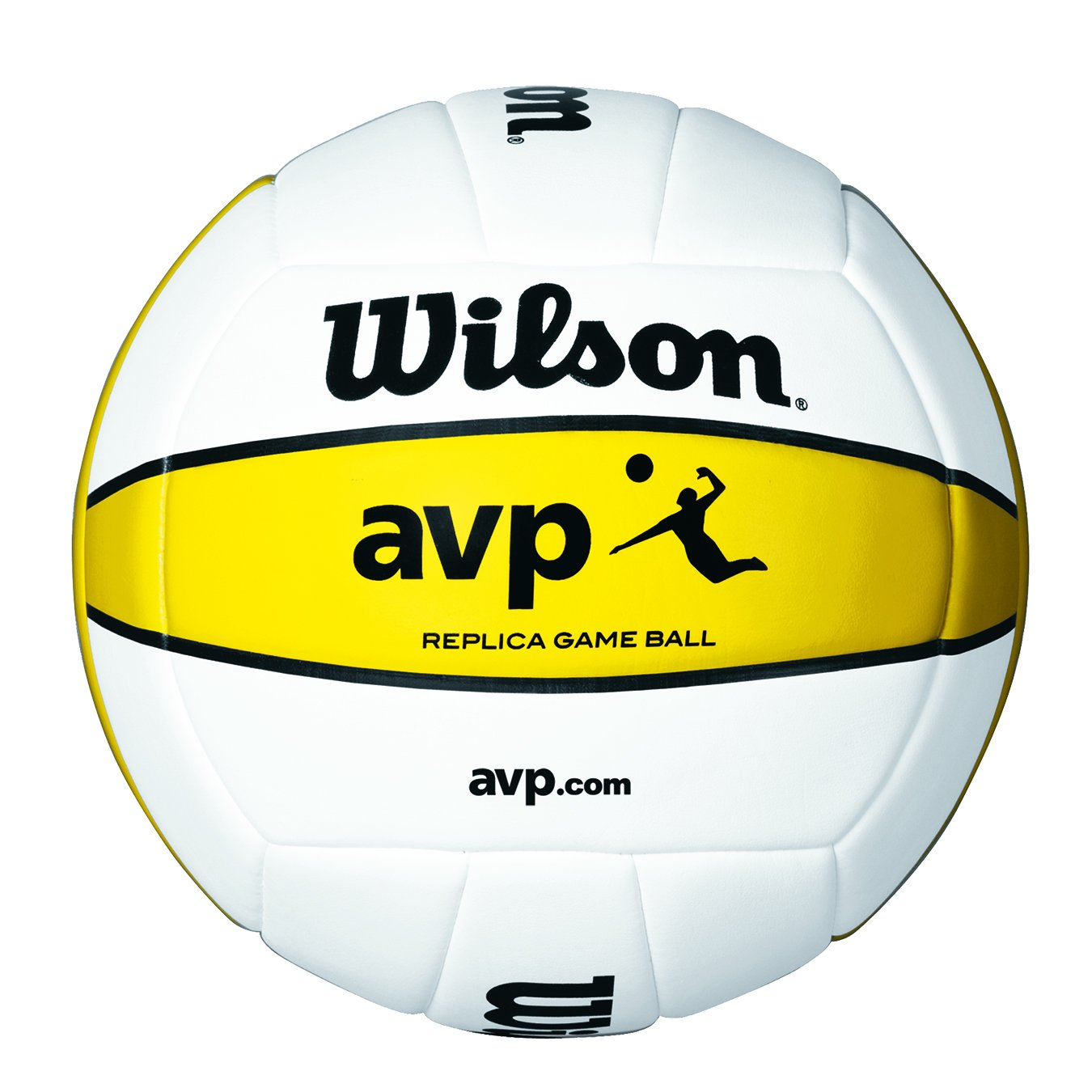 Wilson AVP - Mini pelota, color blanco/amarillo, talla única Wilson Teamsport WTH4110