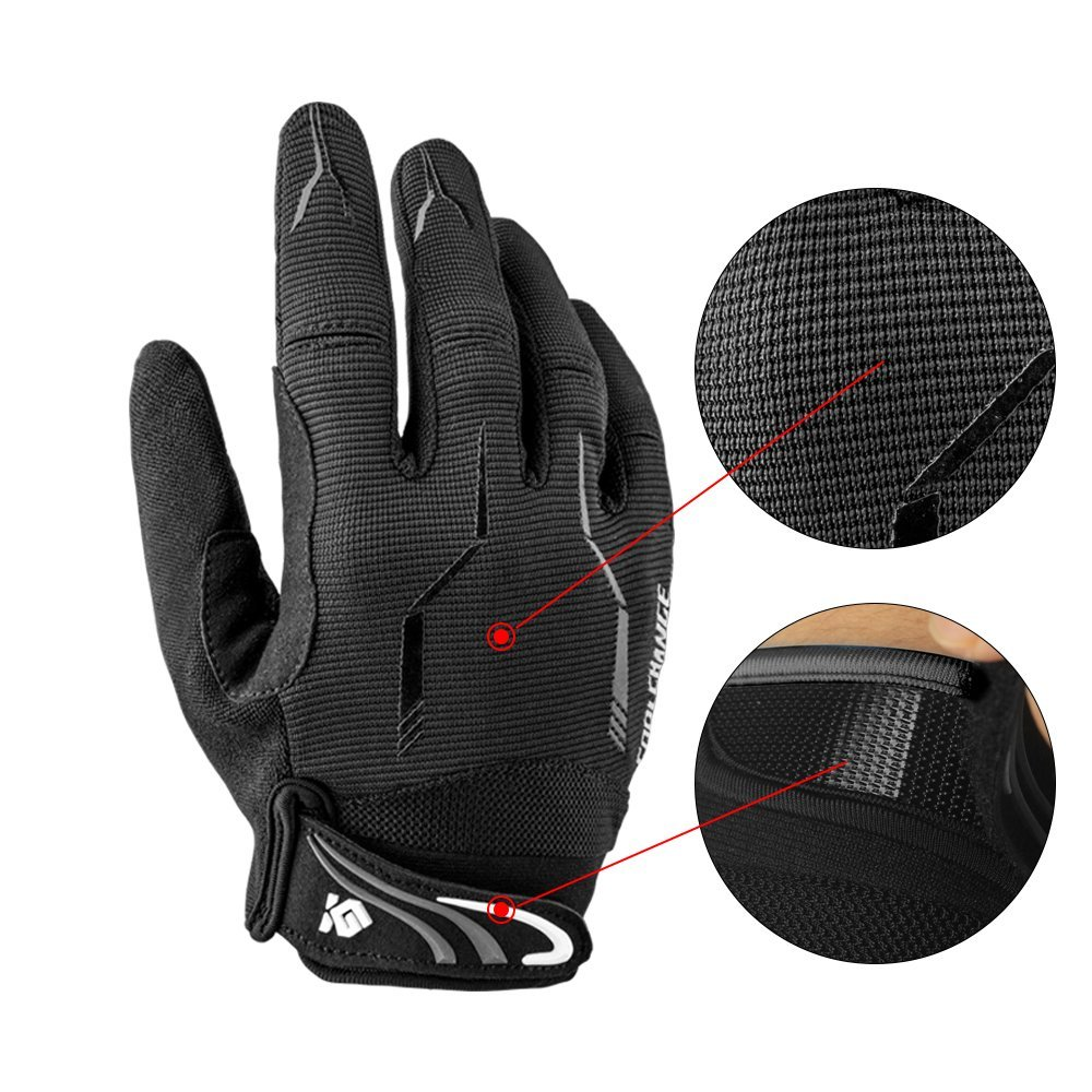 f5c3a935a Amazon.com   Cool Change Full Finger Bike Gloves Unisex Outdoor Touch  Screen Cycling Gloves Road Moutain Bicycle Motorcycle Gloves   Clothing