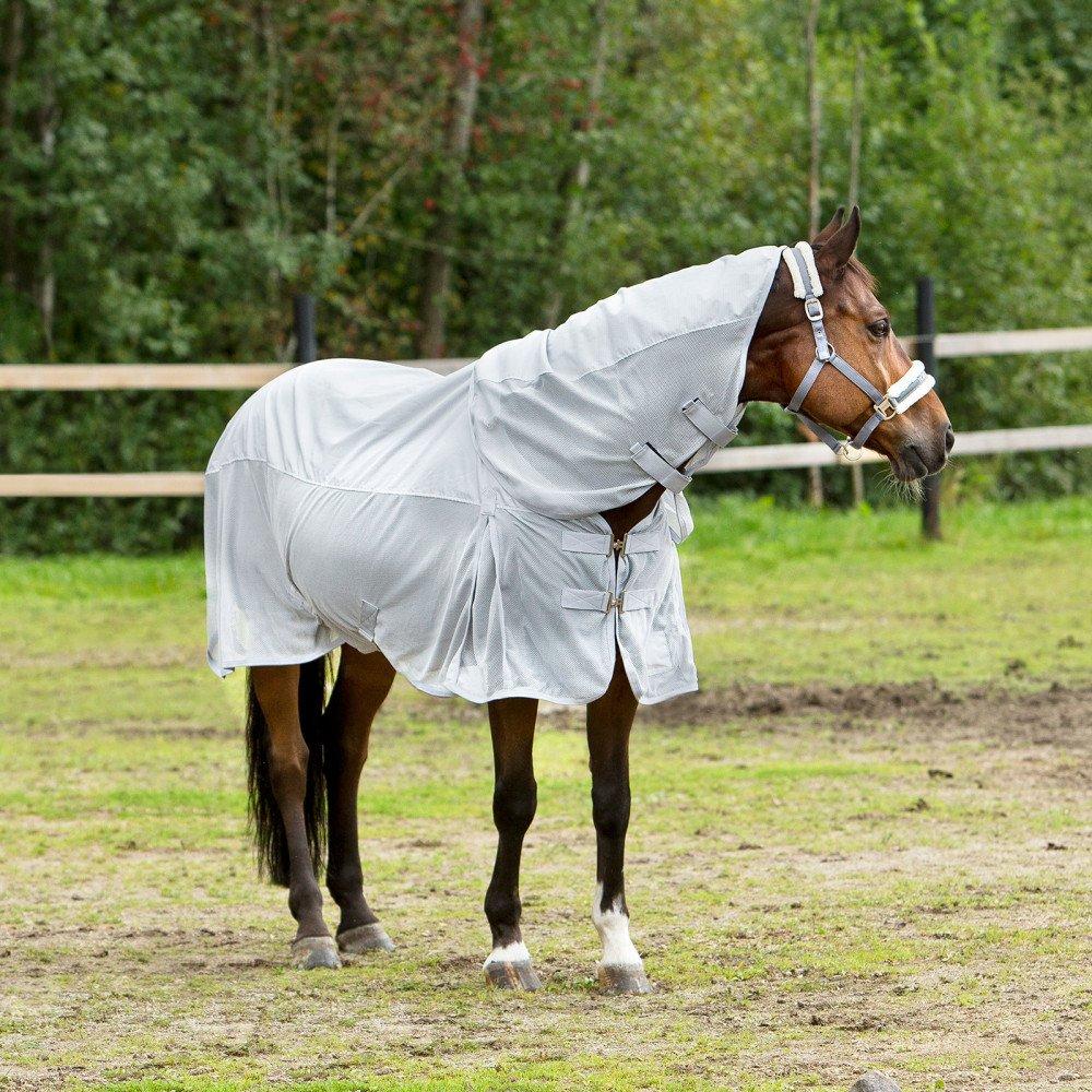 Lunar Rock Grey UK 6'3\ Lunar Rock Grey UK 6'3\ Horze Nevada Combo Shower Fly Sheet For Horses, Lightweight, 600D, Detachable Neck Piece