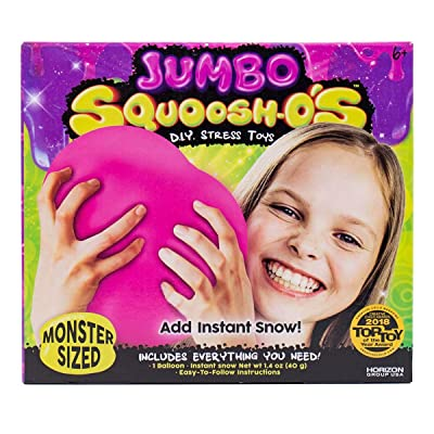 Horizon Group USA Jumbo-Sized Squoosh-O's Balloons for Fun, Hands-on Activity To Relieve Stress - 6 Years & Up Children's: Toys & Games