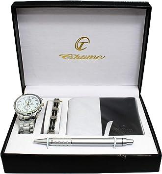 BELLOS: ERNEST, estuche regalo para hombre: reloj + cartera + bolígrafo + linterna: Amazon.es: Electrónica