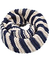 Premium Winter Classic Striped Knit Infinity Loop Circle Scarf - Diff Colors