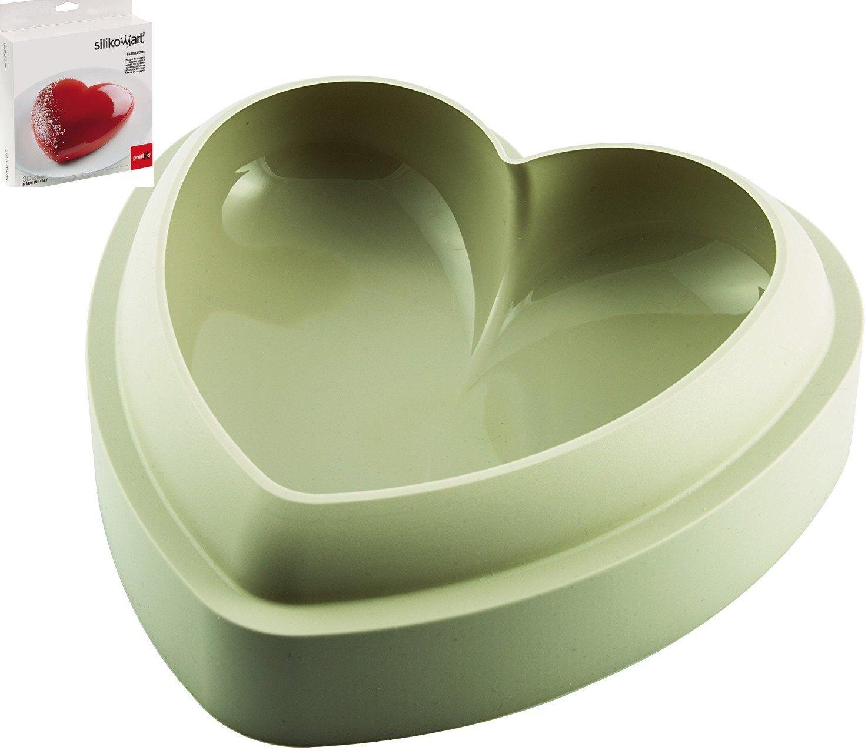 Silikomart - Molde Batticuore de silicona para horno, tarta en forma de corazón en relive, diseño y Decoración de Tartas - UDG Pasticceria: Amazon.es: Hogar