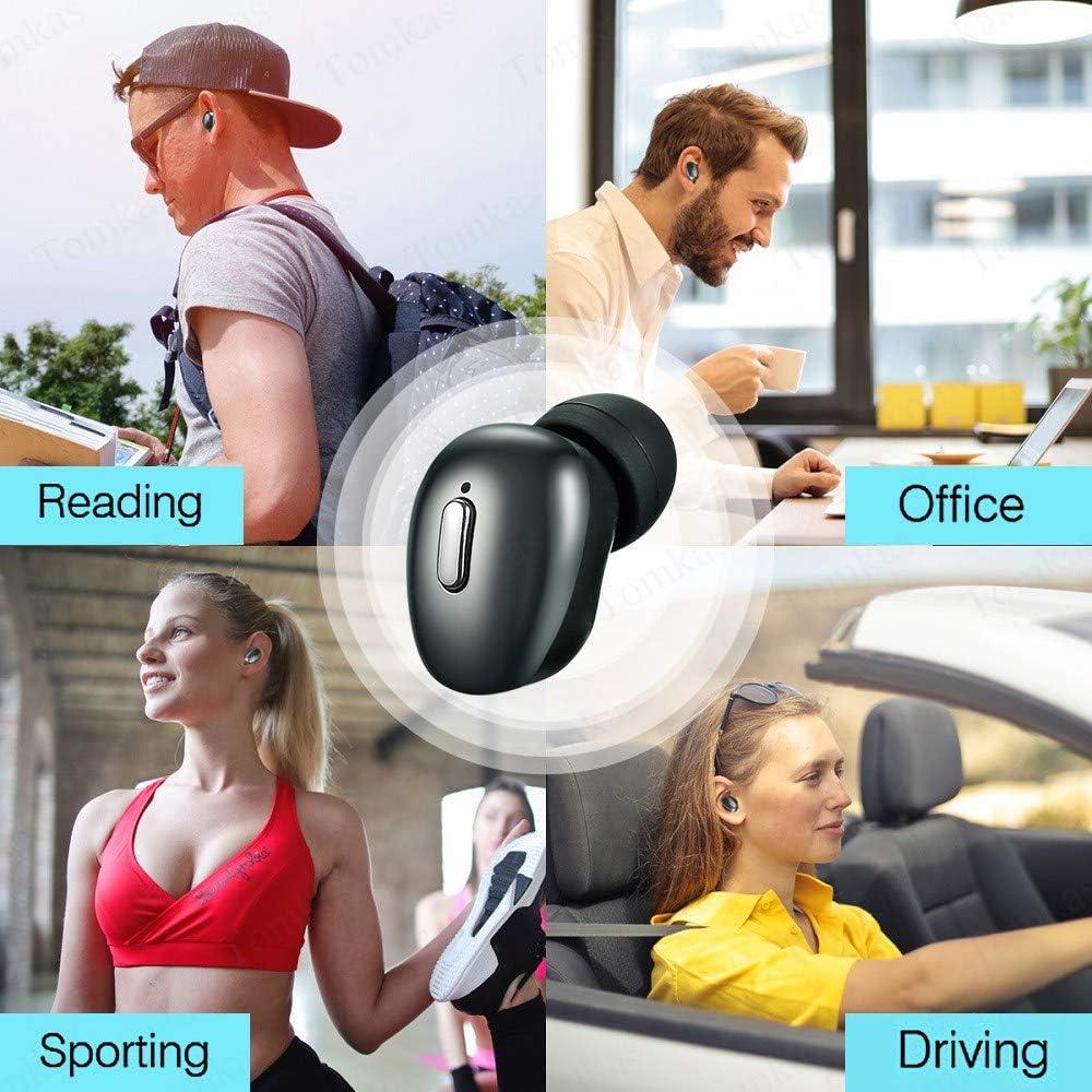 Tws Bluetooth 5.0 Wireless Headphones Earphones For Phone True Wireless Stereo Mini Earbuds Sport Bass Headset With Mic Dark dark