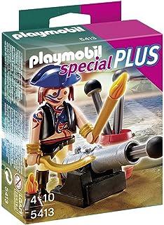 PLAYMOBIL - Pack de 2 Figuras Pirata y Soldado (4127): Amazon.es: Juguetes y juegos