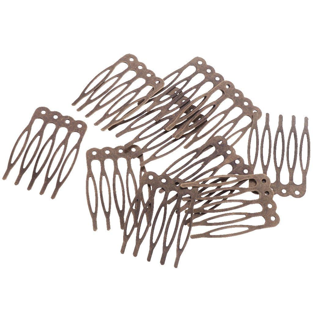 Sharplace 10 Pcs Pettine Per Capelli Fai Da Te Pettini In Metallo Vintage Accessori Per Capelli Da Sposa 7 cm
