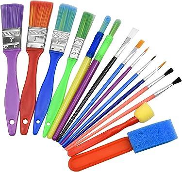 Cepillos de pintura para niños niños artista creativo 5 Pinceles Surtidos Arte y Artesanías