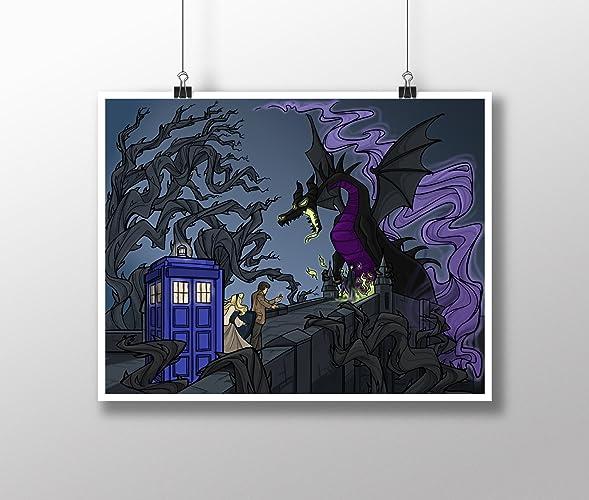 Amazon Com Doctor Who Tardis And Maleficent Sleeping Beauty