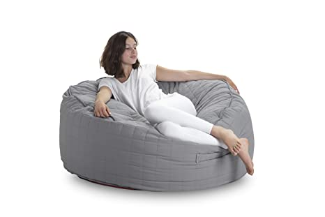 Swell Amazon Com Pozitive Bean Bags Round 47 Inch Grey Large Pdpeps Interior Chair Design Pdpepsorg