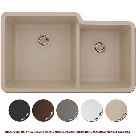 Lexicon Platinum Quartz Composite Kitchen Sink - Large Offset ...