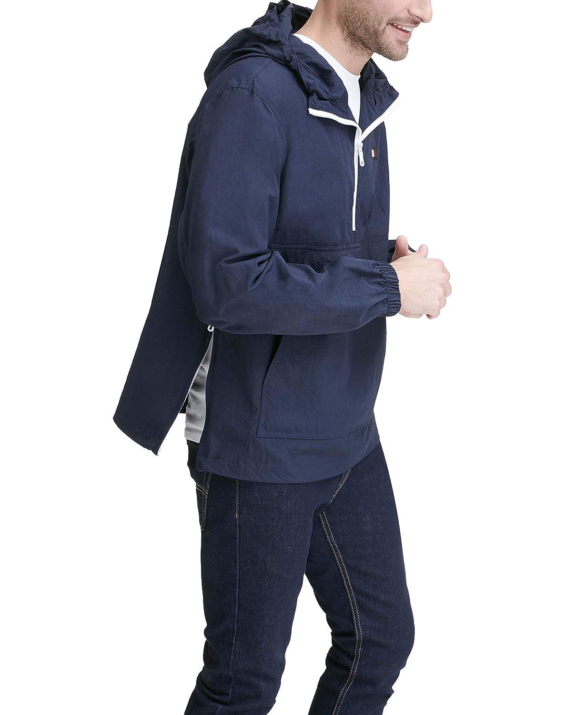 Tommy Hilfiger Mens Retro Lightweight Taslan Popover Jacket 158AN438