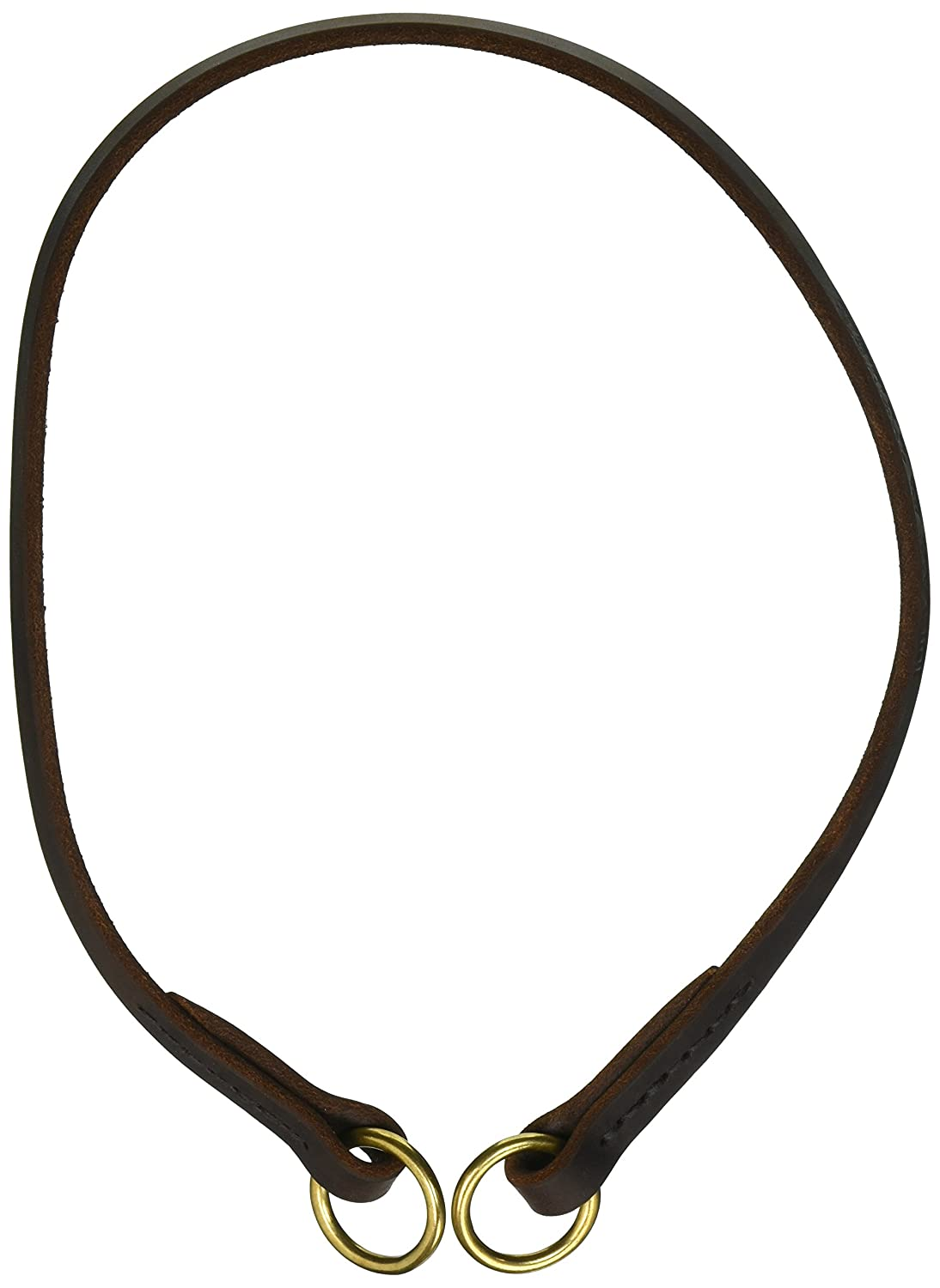 Dean and Tyler TRANQUILITY , Leather Dog Choke Collar with Solid Brass Hardware Brown Size 26-Inch by 1 2-Inch Fits Neck 24-Inch to 26-Inch