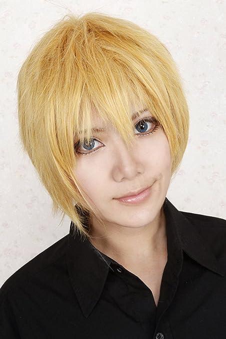 Baloncesto gradiente peluca rubia primavera amarilla original de la peluca Hinata Seto recta rubia peluca cosplay