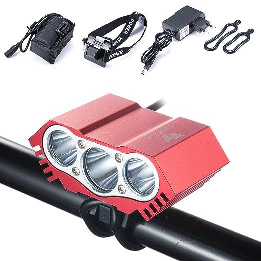 65 opinioni per Gufo LED per bicicletta 7500 Lumen, impermeabile, XML U2 LED-Luce per bicicletta