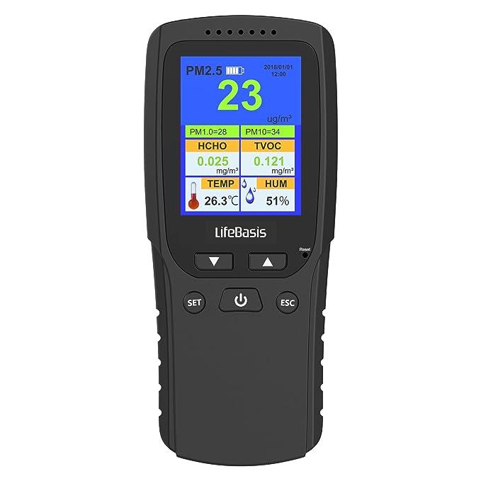 2 opinioni per Qualita aria Monitoraggio LifeBasis Rilevatore di Formaldeide Test Accurato