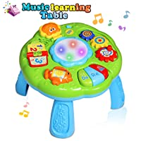 HOMOFY Baby Toys Musical Learning Table 18 Months Up- Early Education Activity Center...