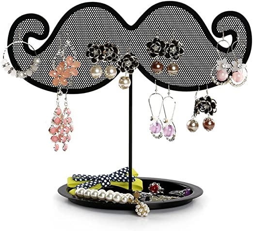 Amazon Com Jewelry Stand Botitu 8 7inch Earring Holder With Net Design Jewelry Display For Teen Girls And Women For Hanging Bracelets Jewelry Organizer Home Kitchen