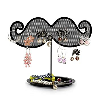 Amazoncom Jewelry Stand Botitu 87inch Earring Holder with Net