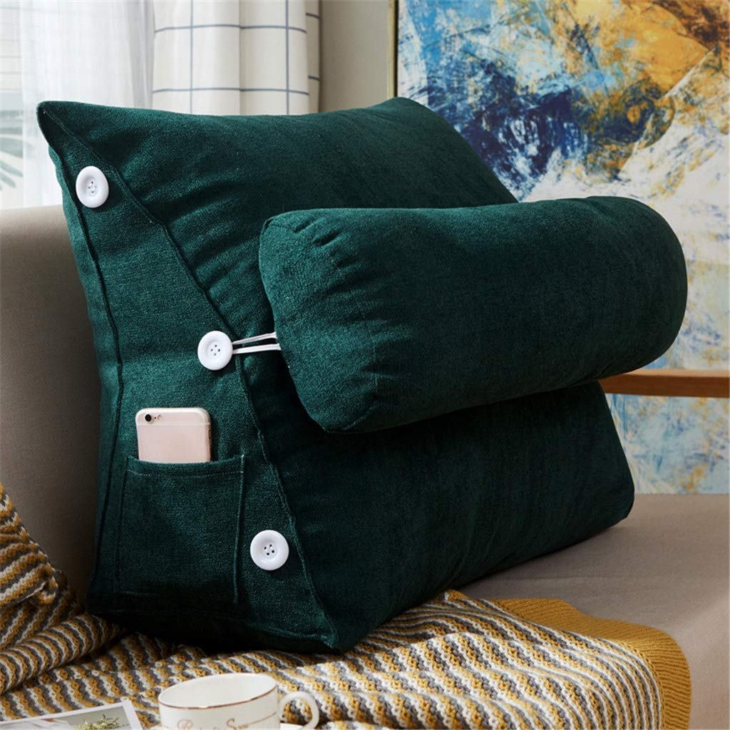 Lil Band Head Pillow Triangle Cushion, Sofa Office Bay Window Lumbar Pillow/Lumbar Support Waist/Pillow (can Be Adjusted in Three Steps) (Color : Green) by LILISHANGPU (Image #2)