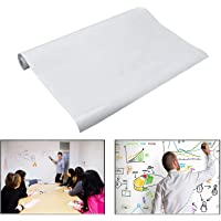 Gearmax kolay kuruyan tahta folyo beyaz pano beyaz pano duvar çıkartması Wandpapier okul ofis ev 45 x 200 cm (Beyaz)