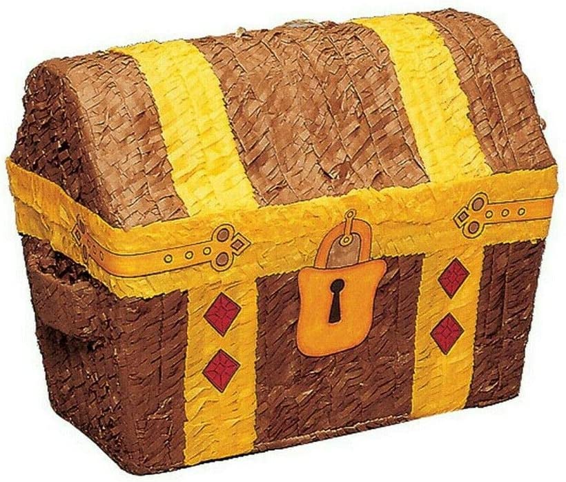 Quickdraw Treasure Chest Pirate Pinata Childrens Birthday Party Traditional Novelty Game