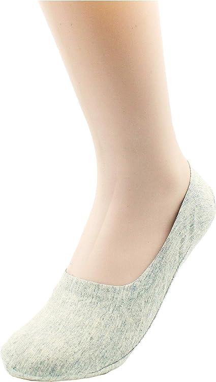 Pack of 3-12 LAISOR Cotton No Show Sock Women/'s invisible Non Slip Flat Boat Liner Socks